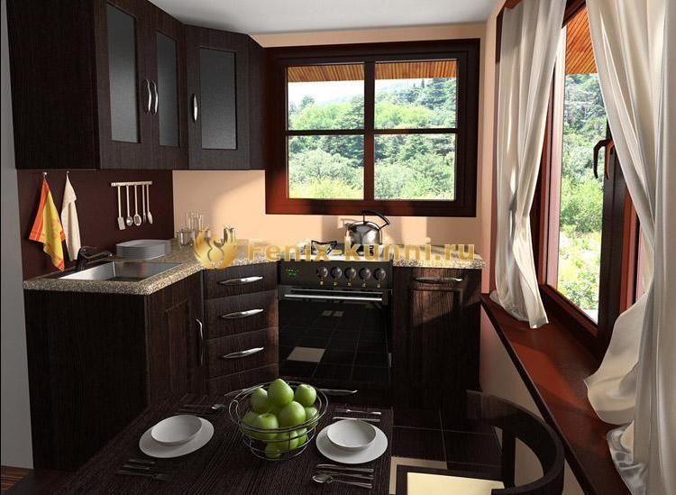 Дизайн кухни на даче с